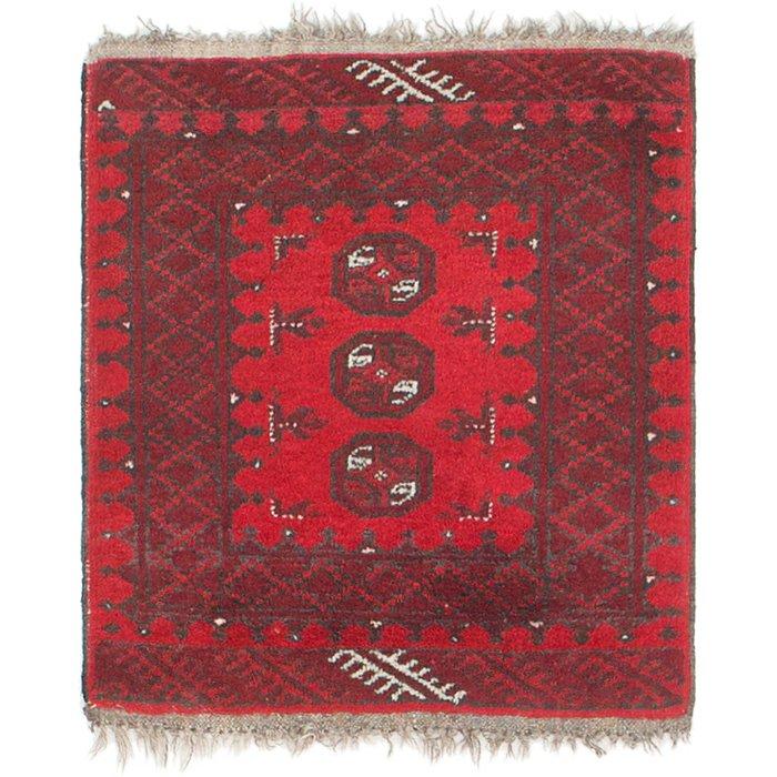 1' 10 x 2' Afghan Akhche Square Rug