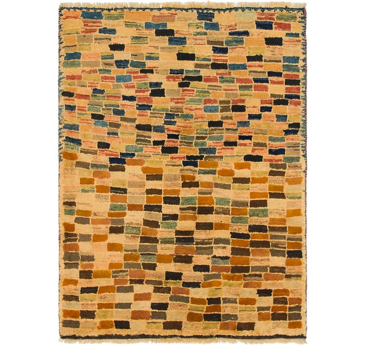 3' 4 x 4' 7 Shiraz-Gabbeh Persian Rug