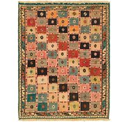 Link to 3' 5 x 4' 5 Shiraz-Gabbeh Persian Rug