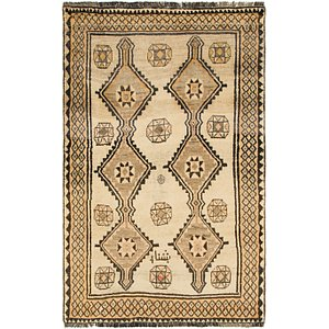 Unique Loom 4' 1 x 6' 8 Shiraz-Gabbeh Persian Rug