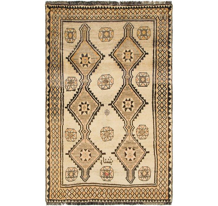4' 1 x 6' 8 Shiraz-Gabbeh Persian Rug