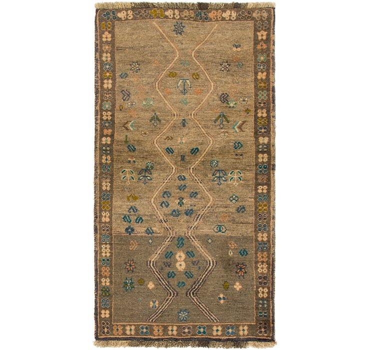 2' 6 x 5' Shiraz-Gabbeh Persian Rug
