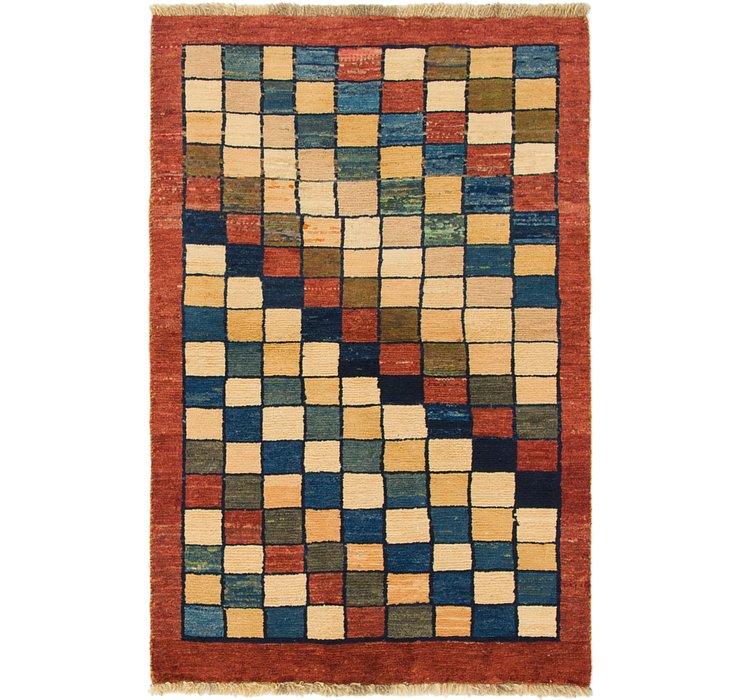 3' 2 x 4' 10 Shiraz-Gabbeh Persian Rug