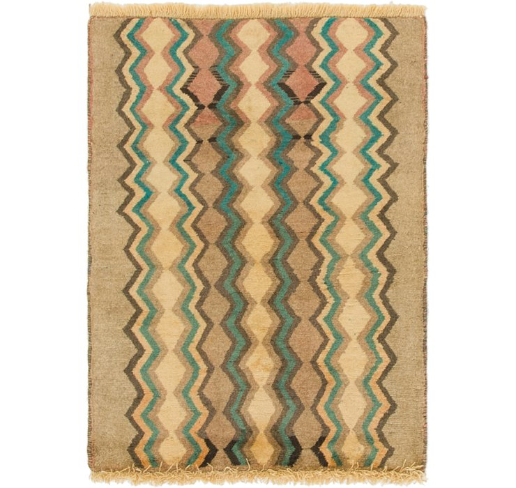 2' 4 x 3' 2 Shiraz-Gabbeh Persian Rug