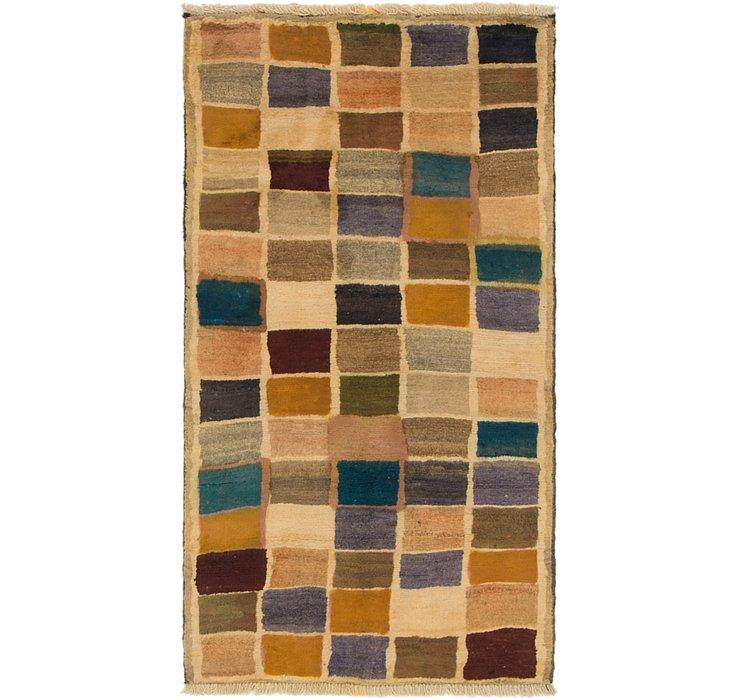2' 8 x 5' Shiraz-Gabbeh Persian Rug