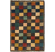 Link to 3' 4 x 5' Shiraz-Gabbeh Persian Rug