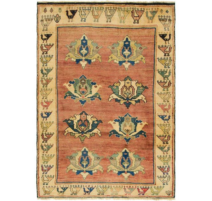 4' 5 x 6' 2 Ghashghaei Persian Rug