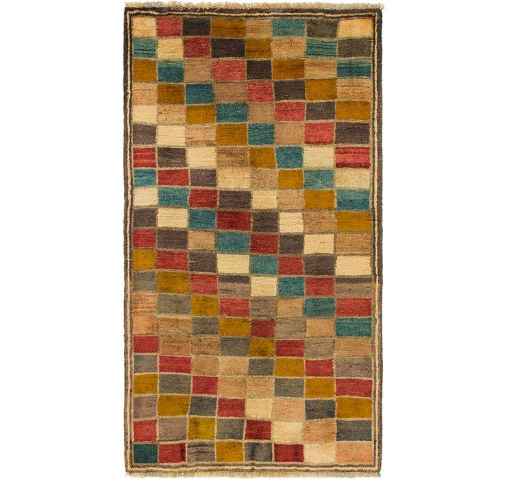 3' 2 x 5' 10 Shiraz-Gabbeh Persian Rug