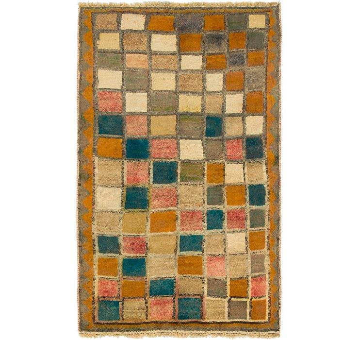 3' 4 x 5' 7 Shiraz-Gabbeh Persian Rug