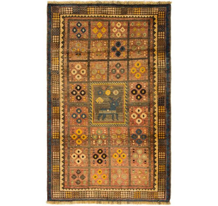 4' x 6' 5 Ghashghaei Persian Rug