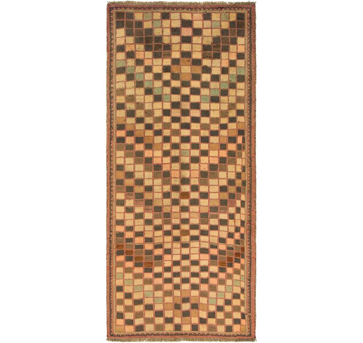 3' 2 x 7' 5 Shiraz-Gabbeh Persian R...