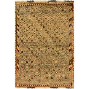 Unique Loom 3' 7 x 5' 6 Shiraz-Gabbeh Persian Rug