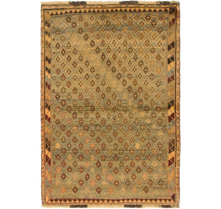 HandKnotted 3' 7 x 5' 6 Shiraz-Gabbeh Persian Rug