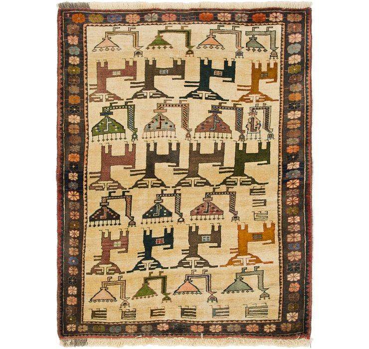 110cm x 152cm Ghashghaei Persian Rug