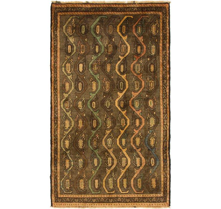 105cm x 183cm Shiraz-Gabbeh Persian Rug