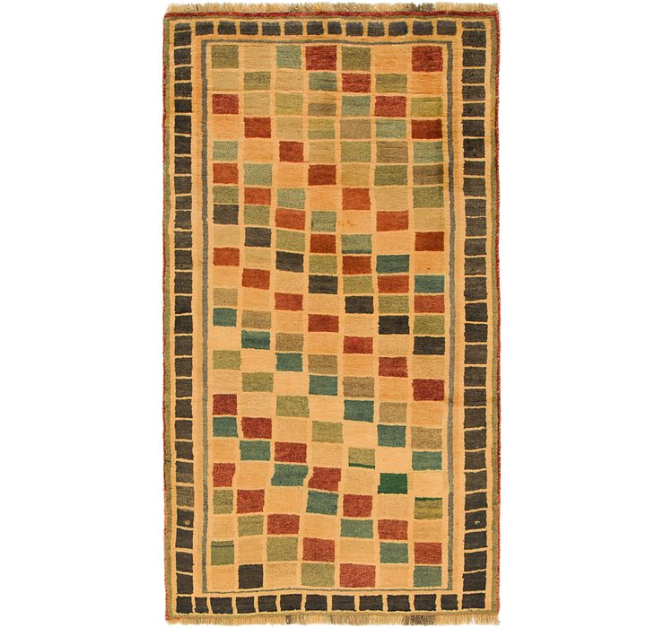 3' 7 x 6' 4 Shiraz-Gabbeh Persian Rug