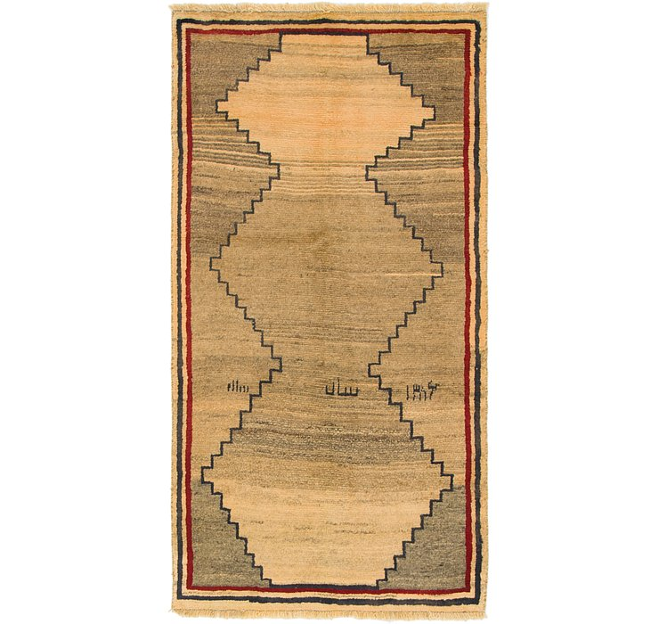 3' 3 x 6' 3 Shiraz-Gabbeh Persian Rug