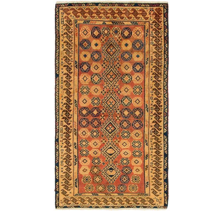 3' 6 x 6' 7 Shiraz-Gabbeh Persian Rug