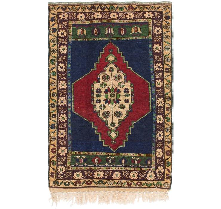 2' 7 x 4' Anatolian Oriental Rug
