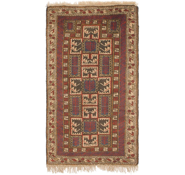 2' 6 x 4' 8 Shiraz Persian Rug