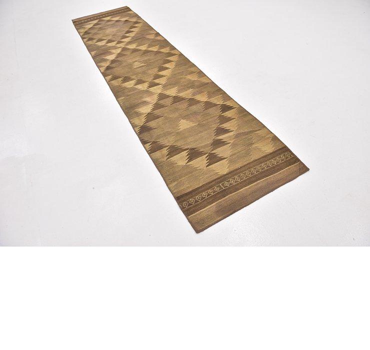 2' 7 x 10' 4 Kilim Fars Runner Rug