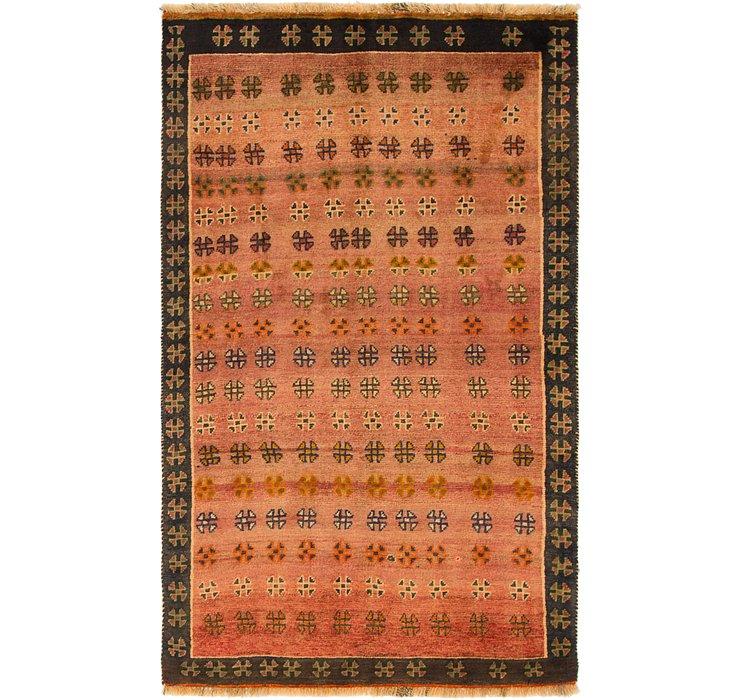 3' 8 x 6' Shiraz-Gabbeh Persian Rug