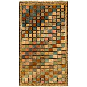 3' 3 x 5' 8 Shiraz-Gabbeh Persian Rug