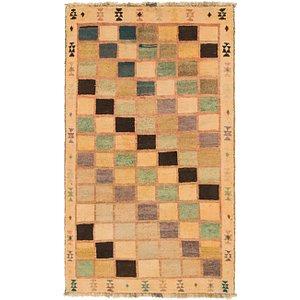 HandKnotted 3' 7 x 6' 4 Shiraz-Gabbeh Persian Rug