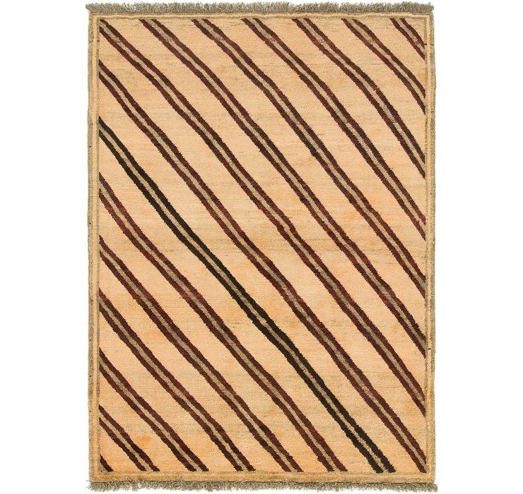 4' 2 x 5' 10 Shiraz-Gabbeh Persian Rug