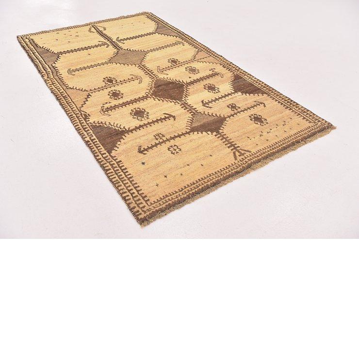 4' x 6' 6 Shiraz-Gabbeh Persian Rug