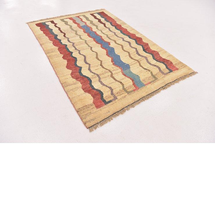 4' x 5' 6 Shiraz-Gabbeh Persian Rug