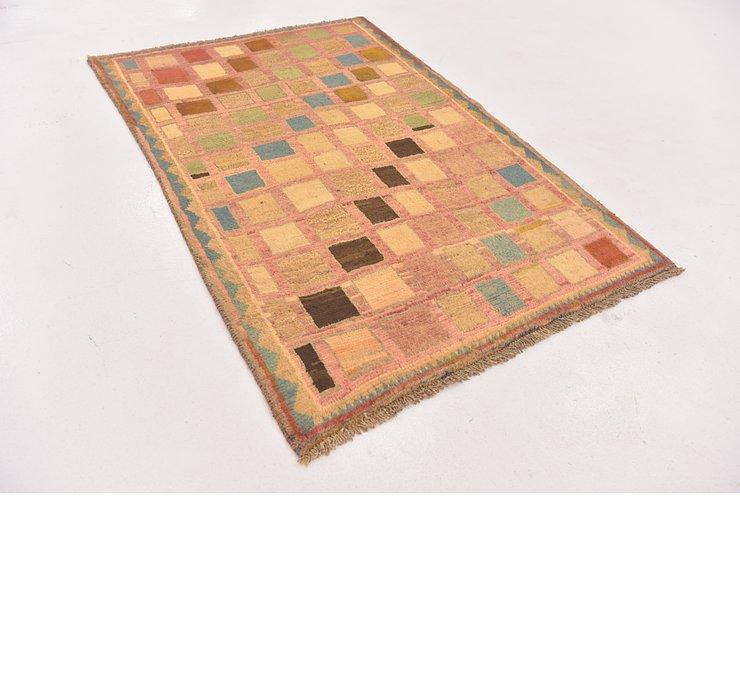 3' 6 x 5' 2 Shiraz-Gabbeh Persian Rug