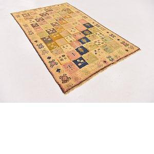 Unique Loom 3' 9 x 6' Shiraz-Gabbeh Persian Rug