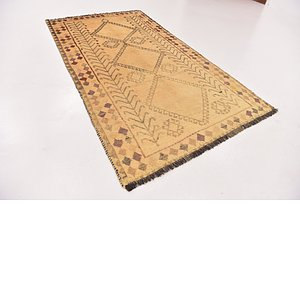 4' x 7' 3 Shiraz-Gabbeh Persian Rug