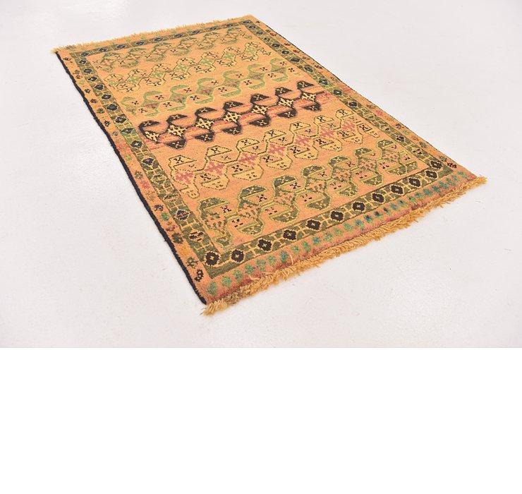 3' 3 x 5' Shiraz-Gabbeh Persian Rug