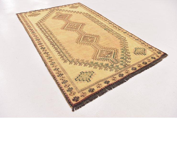 4' 4 x 7' 2 Shiraz-Gabbeh Persian Rug