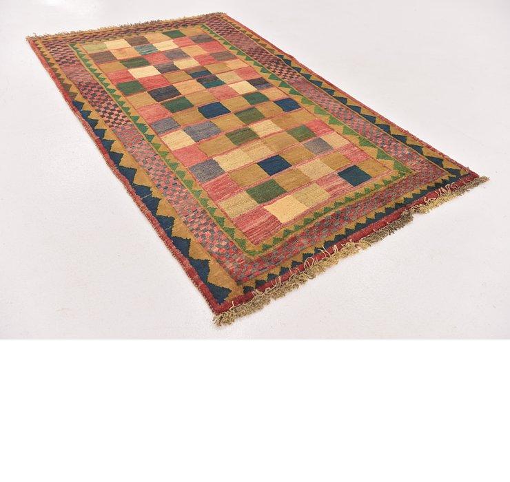 3' 8 x 5' 10 Shiraz-Gabbeh Persian Rug