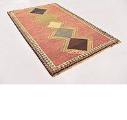 Link to 3' 9 x 6' Shiraz-Gabbeh Persian Rug