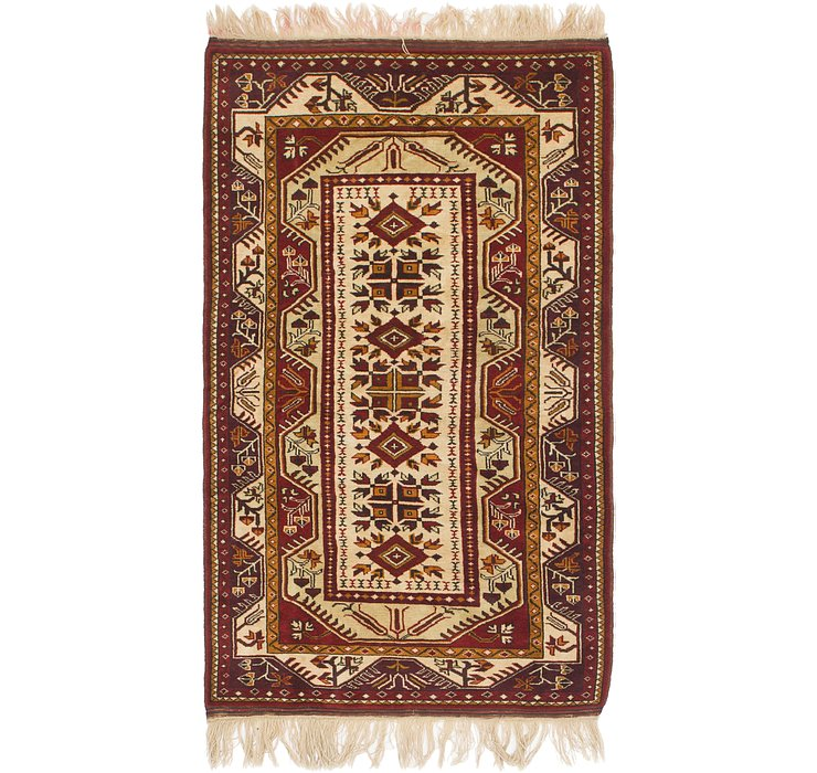 3' 6 x 6' 2 Anatolian Oriental Rug