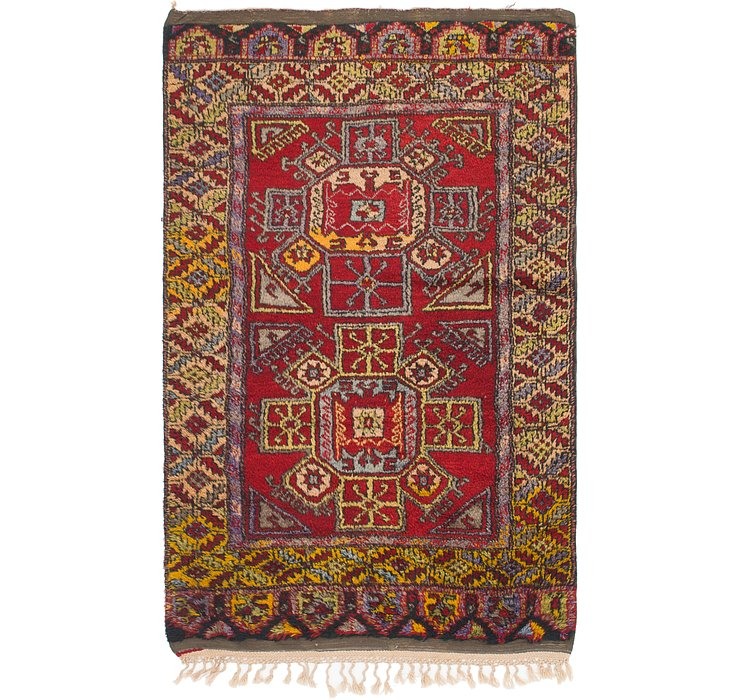 4' 2 x 6' 9 Anatolian Oriental Rug