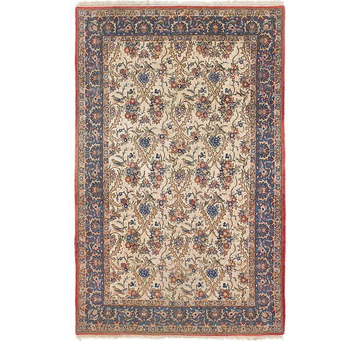 6' 5 x 10' Qom Persian Rug