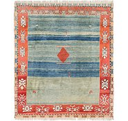 Link to 8' 8 x 10' Shiraz-Gabbeh Persian Rug