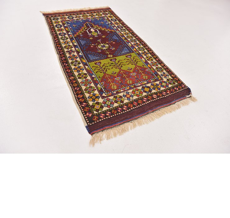 2' 9 x 5' Anatolian Oriental Rug