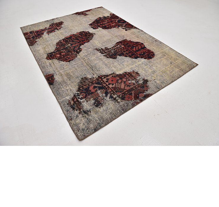 5' 8 x 7' 10 Ultra Vintage Persian Rug