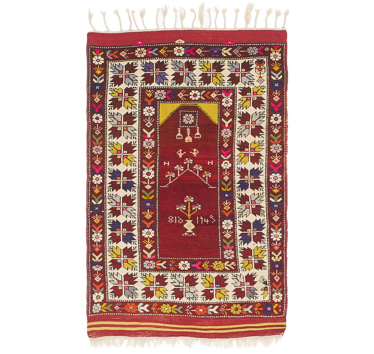 HandKnotted 3' 5 x 5' 5 Anatolian Rug