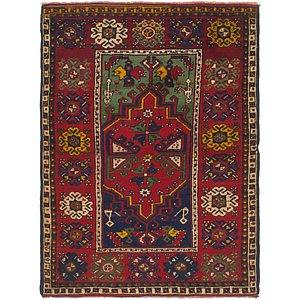 HandKnotted 4' x 5' 7 Anatolian Rug