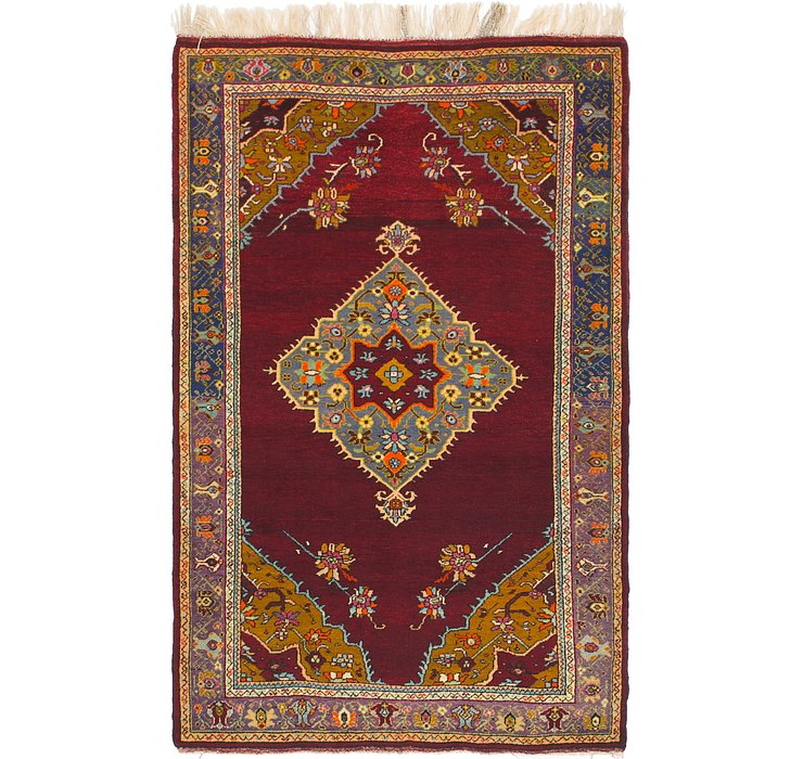 4' x 6' 6 Anatolian Rug