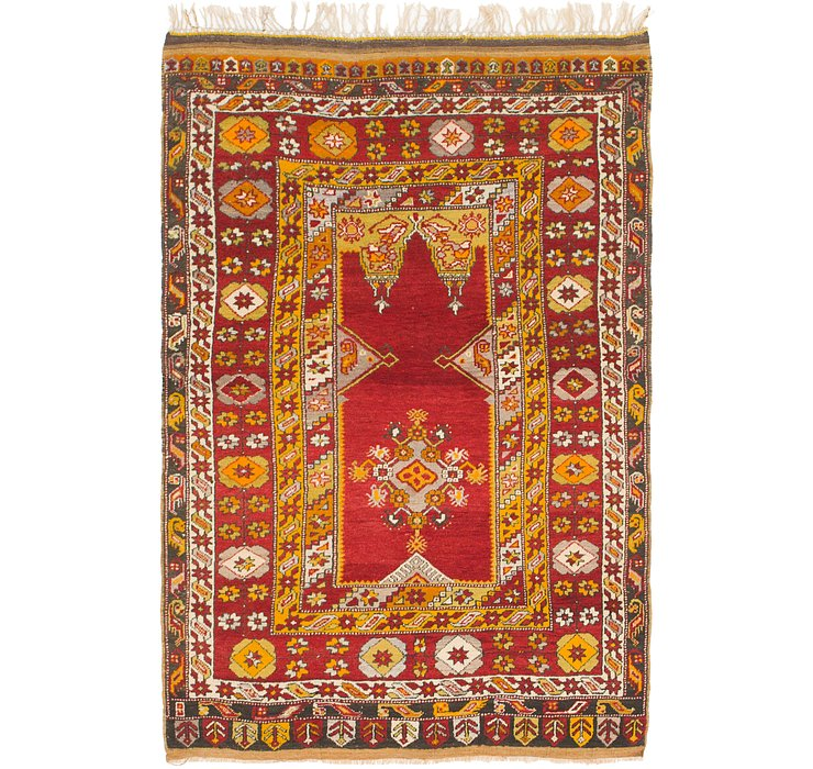 4' x 6' 2 Anatolian Oriental Rug