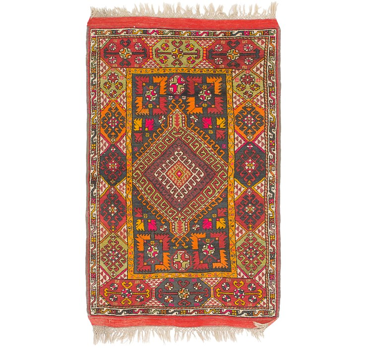 3' 5 x 5' 8 Anatolian Oriental Rug