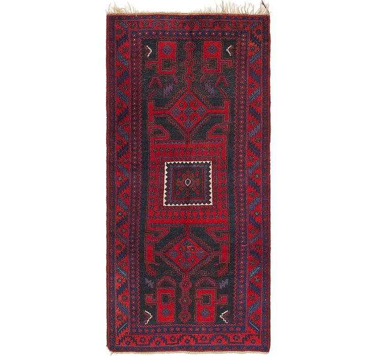 4' 9 x 10' 7 Zanjan Persian Runner Rug